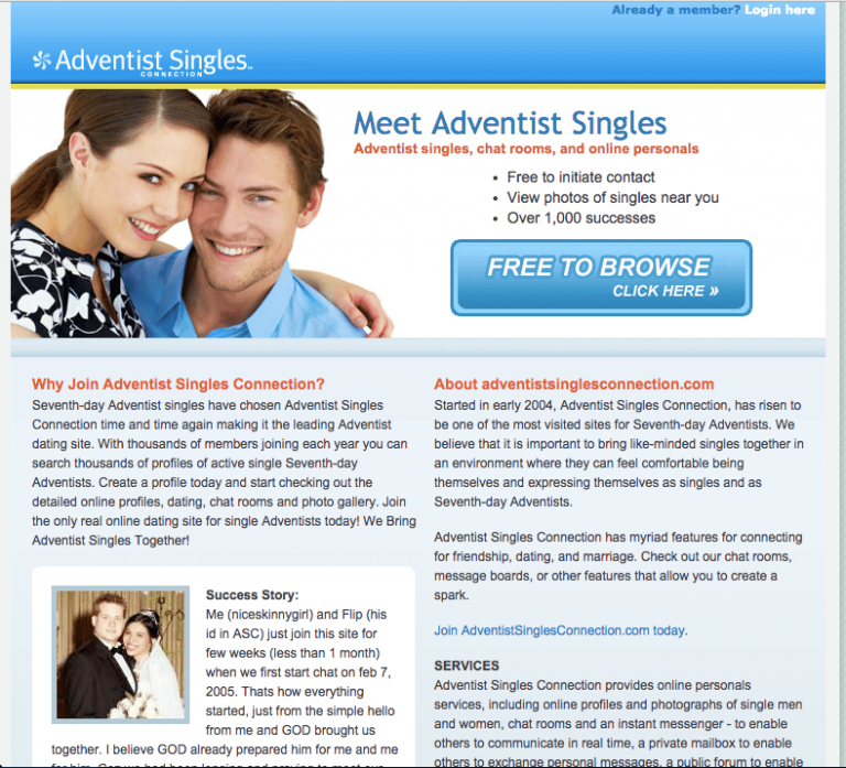 Seventh day adventist dating club
