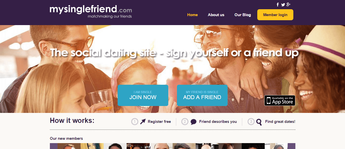 Dating website but for friends