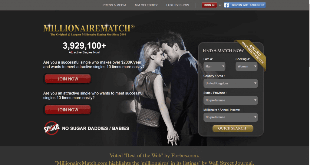 millionairematch dating site