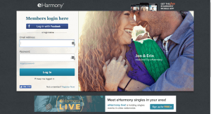 eHarmony Review Log In Page